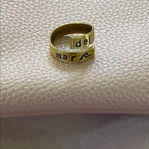 """""""del mar"""" (""""from the sea"""") ring"""